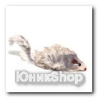 Игрушка Мышь меховая полиэстер 7,6см