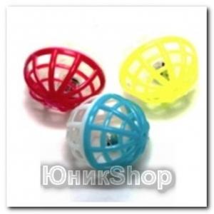 Игрушка Мяч с колокольчиком пластик 4см