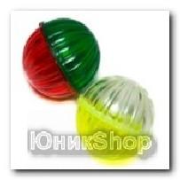 Игрушка Мяч каркасный цветной с колокольчиком пластик 4шт