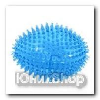 Мяч овальный с шипами Колючка резина 11см