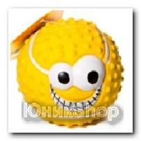 Игрушка Мяч смайлик глазами латекс 8см IR0156 K081