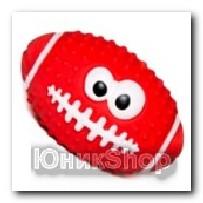 Игрушка Мяч регби латекс 10см