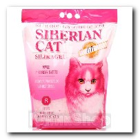 Наполнитель Сибирская Кошка для кошачьего туалета Элита для привередливых кошек силикагель розовые гранулы 8л 2460