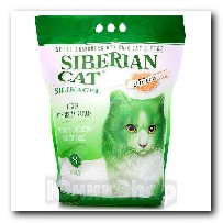 Наполнитель Сибирская Кошка для кошачьего туалета Элита ЭКО силикагель зеленые гранулы 8л 3177