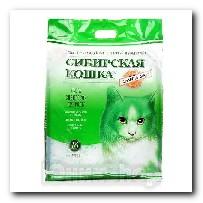 Наполнитель Сибирская Кошка для кошачьего туалета Элита-ЭКО силикагель зеленые гранулы 16л 3184