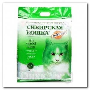 Наполнитель Сибирская Кошка для кошачьего туалета Элита ЭКО силикагель зеленые гранулы 24л