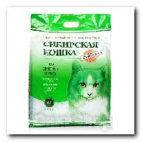Наполнитель Сибирская Кошка для кошачьего туалета Элита ЭКО силикагель зеленые гранулы 24л 3481
