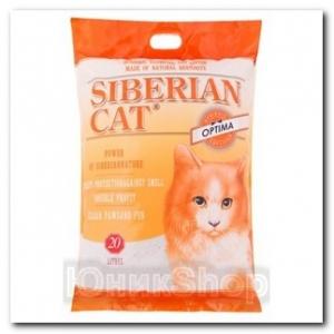 Наполнитель Сибирская Кошка для кошачьего туалета Оптима комкующийся 20л