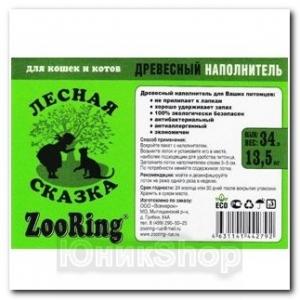 Наполнитель ZooRing для кошачьего туалета Древесный 15кг