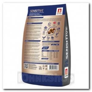 Корм Zoogurman Sensitive-Гипоаллергенный Ягненок с рисом для собак малых и средних пород 1,2кг