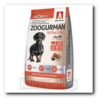 Корм Zoogurman Active Life Телятина для собак малых и средних пород 1,2кг