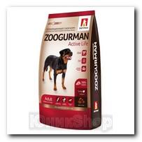 Корм Zoogurman Active Life Индейка для собак средних и крупных пород 12кг
