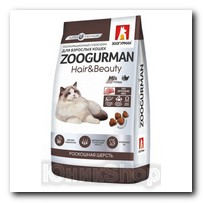 Корм Zoogurman Hair Beauty Птица для кошек 350г