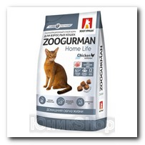 Корм Zoogurman Home Life Курочка для кошек 1,5кг