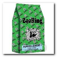 Корм ZooRing для щенков Puppy Junior-1 (Паппи и Юниор-1) Утка и рис 20кг с пробиотиками