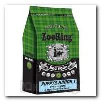 Корм ZooRing для щенков Puppy Junior-1 (Паппи и Юниор-1) Утка и рис 10кг с пробиотиками