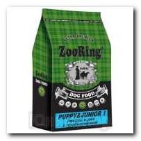 Корм ZooRing для щенков Puppy Junior-1 (Паппи и Юниор-1) Лосось и рис 10кг с пробиотиками
