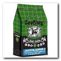 Корм ZooRing для щенков Puppy Junior-2 (Паппи и Юниор-2) Утка и рис 10кг с глюкозамином и хондроитином