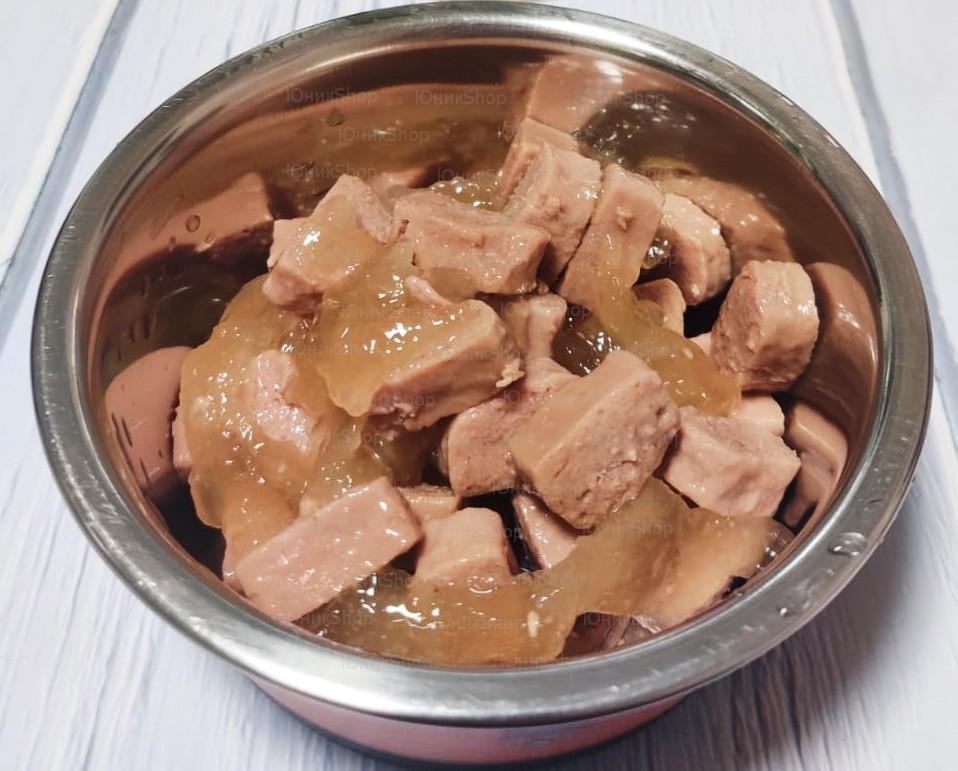 ZooRing для собак Сочные кусочки мяса в желе 4 мяса 850г 1шт