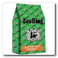 Корм ZooRing для собак Active Dog Standart (Актив Дог Стандарт) Птичий Микс и рис 20кг с хондрозащитными агентами