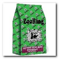 Корм ZooRing для собак Active Dog Standart Max (Актив Дог Стандарт Макси) Птичий Микс и рис 20кг с хондрозащитными агентами
