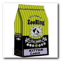Корм ZooRing для котят Kitten Lamb (Киттен Ягненок) с гемоглобином 10кг