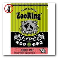Корм ZooRing для кошек Adult Cat Turkey Salmon Grain free (Эдалт Кэт Индейка и Лосось) 1,5кг (без пшеницы)