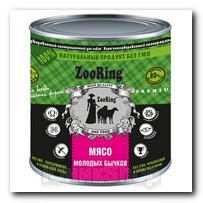 ZooRing для собак Мясо молодых бычков 850г 1шт
