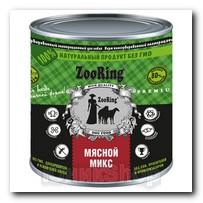 ZooRing для собак Мясной микс 850г 1шт