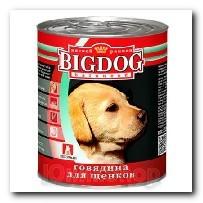 Консервы Big Dog для щенков Говядина 850г