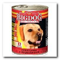 Консервы Big Dog для собак Говядина с бараниной 850г
