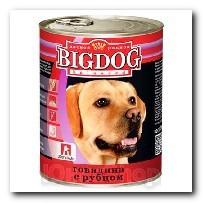 Консервы Big Dog для собак Говядина с рубцом 850г
