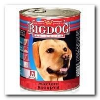 Консервы Big Dog для собак Мясное ассорти 850г
