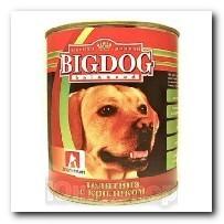 Консервы Big Dog для собак Телятина с кроликом 850г
