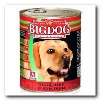 Консервы Big Dog для собак Телятина с сердцем 850г