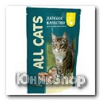 Корм All Cats для кошек курица соус 85г