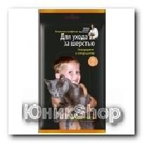 Влажные салфетки Teddy Pets для шерсти дезодорант кондиционер 25шт