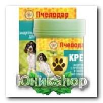 Крем Пчелодар защитный с прополисом и воском для лап собак и кошек 50г
