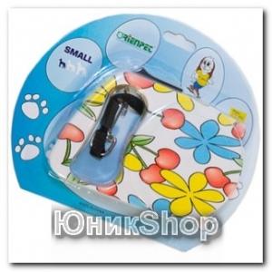 Рулетка для собак OrienPet 3м/10кг ЛЕНТА Цветок пластик