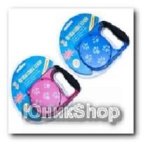 Рулетка для собак OrienPet 3м/20кг ЛЕНТА Лапки пластик RL 11103
