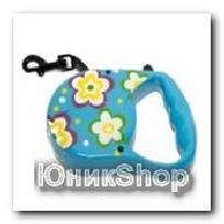 Рулетка для собак OrienPet 3м/20кг ЛЕНТА цветная пластик RL 113