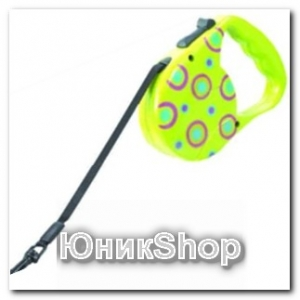 Рулетка для собак OrienPet 3м/20кг ЛЕНТА цветная пластик К032