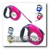 Рулетка для собак OrienPet 3м/20кг ЛЕНТА цветная пластик