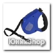 Рулетка для собак OrienPet 3м/20кг ЛЕНТА цветная пластик К097