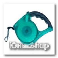 Рулетка для собак OrienPet 3м/35кг ЛЕНТА полупрозрачная с резиновой ручкой пластик RL 11108